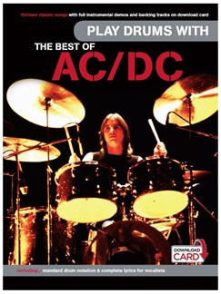 Play Drums With... The Best Of AC/DC (Book/Audio Download) Books and Digital Audio | Drums