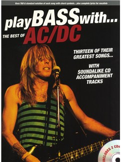Play Bass With... The Best Of AC/DC Books and CDs | Bass Guitar, Bass Guitar Tab