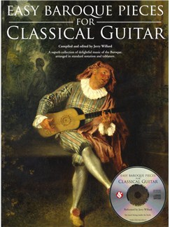 Easy Baroque Pieces For Classical Guitar CD et Livre | Tablature Guitare