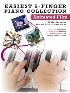Easiest 5-Finger Piano Collection: Animated Film Books | Piano