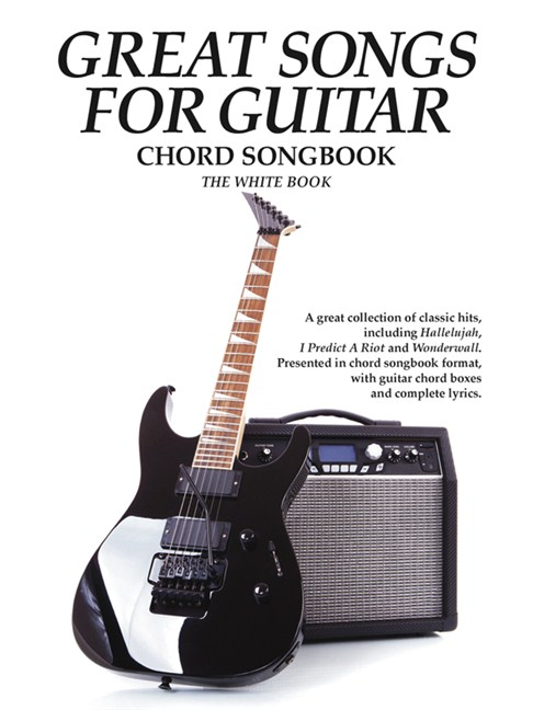 Great Songs For Guitar - White Book - Lyrics & Chords Sheet Music ...