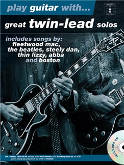 Play Guitar with... Great Twin-Lead Solos Books and CDs | Guitar (Duet), Guitar Tab