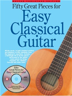 50 Great Pieces For Easy Classical Guitar Books and CDs | Classical Guitar, Guitar Tab