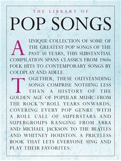 The Library Of Pop Songs Books | Piano, Vocal & Guitar