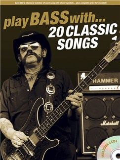 Play Bass With... 20 Classic Songs Books and CDs | Bass Guitar, Bass Guitar Tab