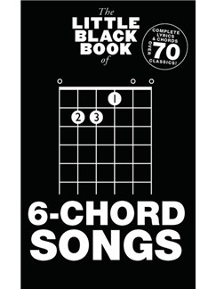 The Little Black Book Of 6-Chord Songs Books | Lyrics & Chords