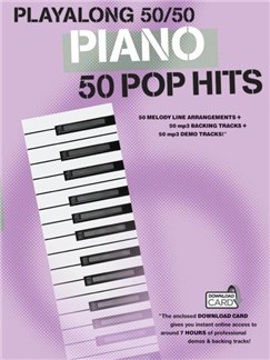 Playalong 50/50 Piano Pop Hits Books and Digital Audio | Piano