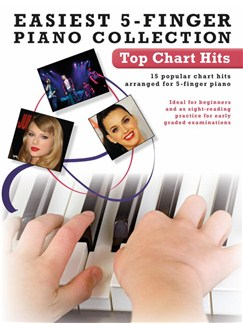 Easiest 5-Finger Piano Collection: Top Chart Hits Books | Piano