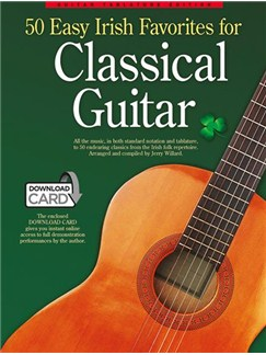 50 Easy Irish Favourites For Classical Guitar:  Guitar Tablature Edition (Book/Audio Download) Books and Digital Audio | Classical Guitar, Lyrics & Chords