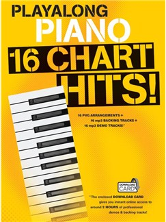Playalong Piano: 16 Chart Hits (Book/Audio Download) Books and Digital Audio | Piano