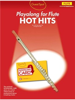 Guest Spot: Hot Hits - Flute (Book/Audio Download) Books and Digital Audio | Flute