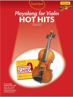 Guest Spot: Hot Hits - Violin (Book/Audio Download) Books and Digital Audio | Violin