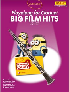 Guest Spot: Big Film Hits Playalong For Clarinet (Book/Audio Download) Books and Digital Audio | Clarinet