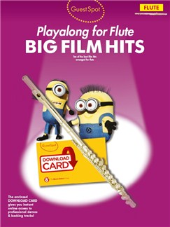 Guest Spot: Big Film Hits Playalong For Flute (Book/Audio Download) Books and Digital Audio | Flute