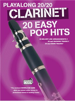 Playalong 20/20 Clarinet: 20 Easy Pop Hits (Book/Audio Download) Books and Digital Audio | Clarinet