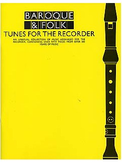 Baroque And Folk Tunes For The Recorder Books | Recorder, with chord symbols