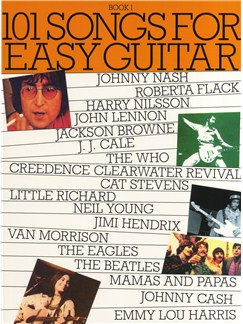 101 Songs For Easy Guitar Book 1 Livre | Ligne De Mélodie, Paroles et Accords (Boîtes d'Accord)
