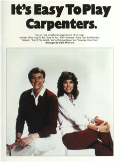 It's Easy To Play The Carpenters Books | Piano and Voice, with Guitar chord symbols