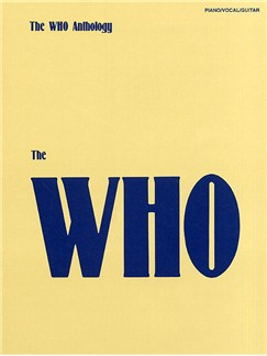 The Who Anthology Books | Piano and Voice, with Guitar chord boxes