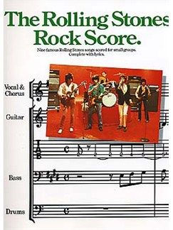 The Rolling Stones: Rock Score Books | Band Tab, with chord symbols