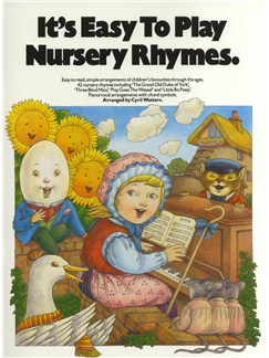 It's Easy To Play Nursery Rhymes Livre | Piano, Chant et Guitare (Symboles d'Accords)