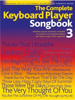 The Complete Keyboard Player: Songbook 3 Books | Melody line & lyrics, with chord symbols