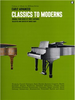 Classics To Moderns: Early Advanced Books | Piano