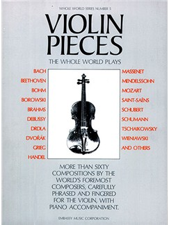 Violin Pieces The Whole World Plays - WW 5 Books | Violin, Piano Accompaniment