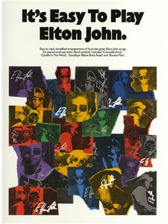 It's Easy To Play Elton John Books | Piano and Voice, with Guitar chord boxes
