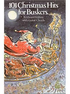 101 Christmas Hits For Buskers Libro | Línea de Melodía, Texto y Acordes(Pentagramas )