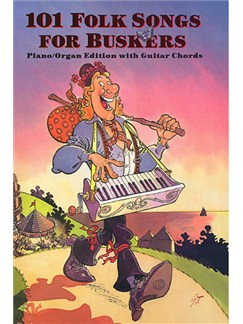101 Folk Songs For Buskers Books | Melody line, Lyrics & Chord, with guitar chord boxes