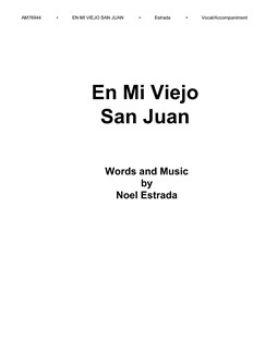 Noel Estrada: En Mi Viejo San Juan Books | Voice, Piano Accompaniment