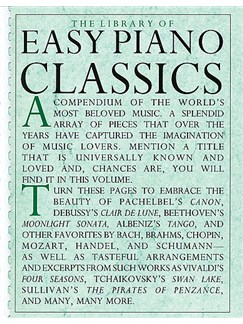Library Of Easy Piano Classics Books | Piano, Easy Piano