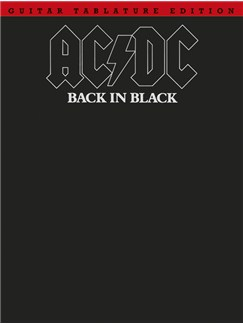 AC/DC: Back In Black (TAB) Livre | Tablature Guitare (Symboles d'Accords)