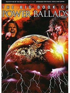 The Big Book Of Power Ballads Books | Piano and Voice, with Guitar chord boxes