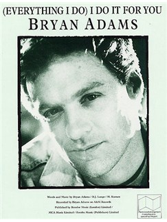 Bryan Adams: (Everything I Do) I Do It For You Books | Piano, Vocal & Guitar (with Chord Boxes)