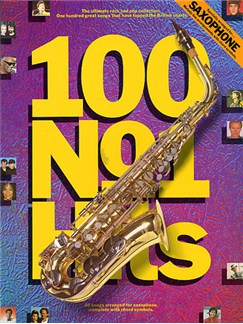 100 No.1 Hits For Saxophone Livre | Saxophone (Symboles d'Accords)