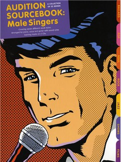 Audition Sourcebook For Male Singers Books and CDs | Piano, Vocal & Guitar