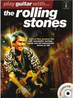 Play Guitar With... The Rolling Stones CD et Livre | Tablature Guitare (Symboles d'Accords)