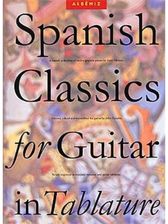 Spanish Classics For Guitar In Tablature Livre | Guitare (Symboles d'Accords)