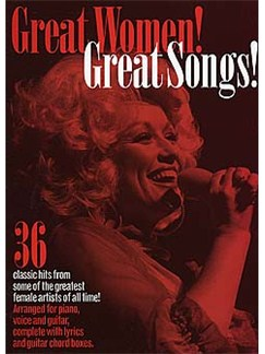 Great Women! Great Songs! Books | Piano, Vocal & Guitar
