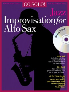 Go Solo! Jazz Improvisation For Alto Sax Books and CDs | Alto Saxophone, with chord symbols