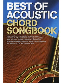 Best Of Acoustic: Guitar Chord Songbook Books | Melody Line, Lyrics & Chords (with Chord Boxes)