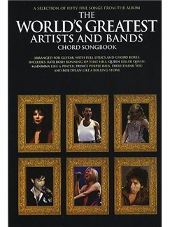 The World's Greatest Artists And Bands Chord Songbook Books | Lyrics & Chords (with Chord Boxes)