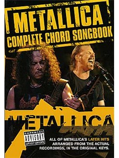 Metallica: Complete Chord Songbook - The Later Years Books | Lyrics & Chords (with Chord Boxes)