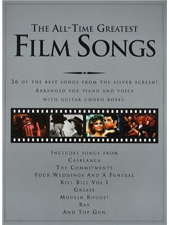 The All-Time Greatest Film Songs Books | Piano, Vocal & Guitar (with Chord Boxes)