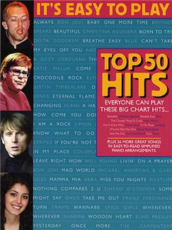 It's Easy To Play Top 50 Hits Books | Piano, Vocal & Guitar (with Chord Symbols)