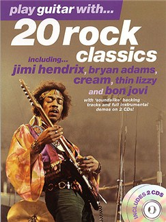 Play Guitar With... 20 Rock Classics Books and CDs | Guitar