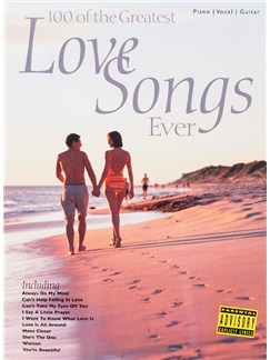 100 Of The Greatest Love Songs Ever Books | Piano, Vocal & Guitar