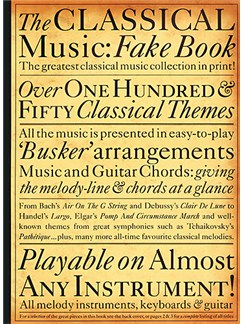 The Classical Music Fake Book Books | Melody Line & Chords (with Chord Symbols), Soprano (Descant) Recorder
